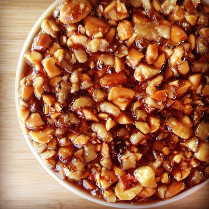 Haroset (nuts in date syrup)