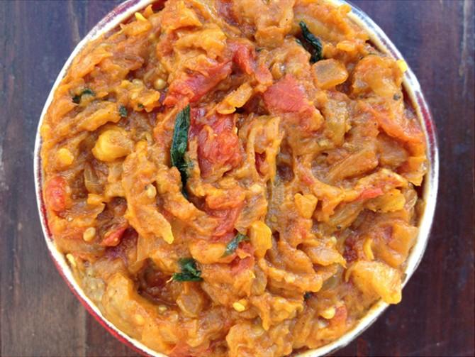Meatless Monday – Baingan Bharta (eggplant with Indian spices)