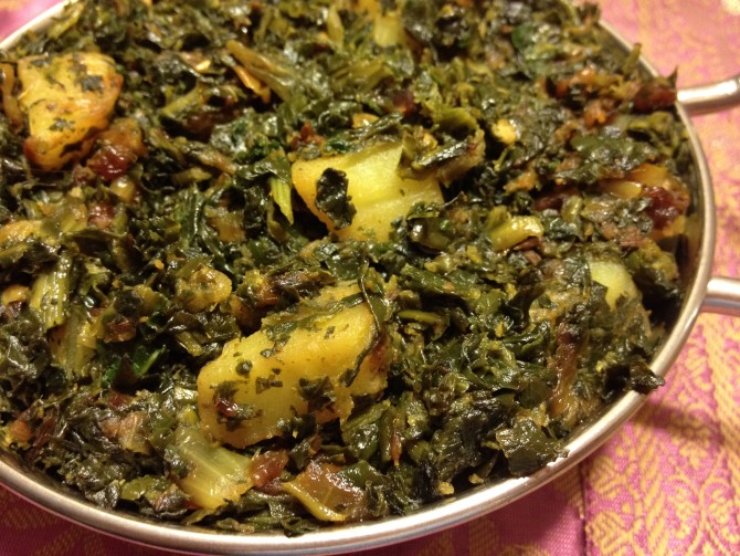 Spinach with Potatoes (Saag Aloo)