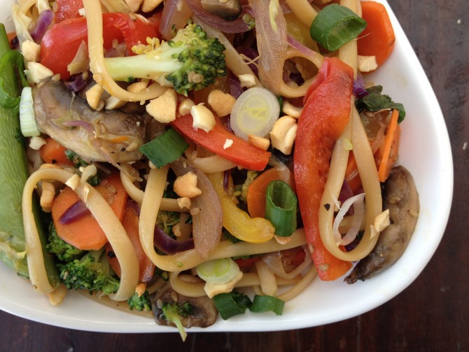 Stir Fry Vegetables with Noodles