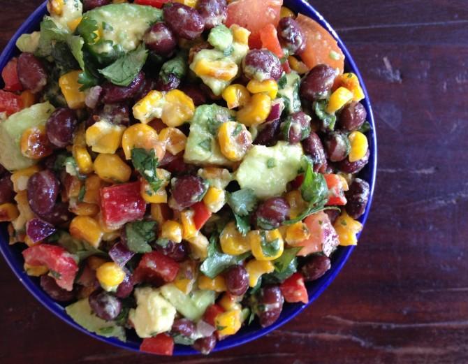 Roasted Corn, Avocado, and Black Bean Salad